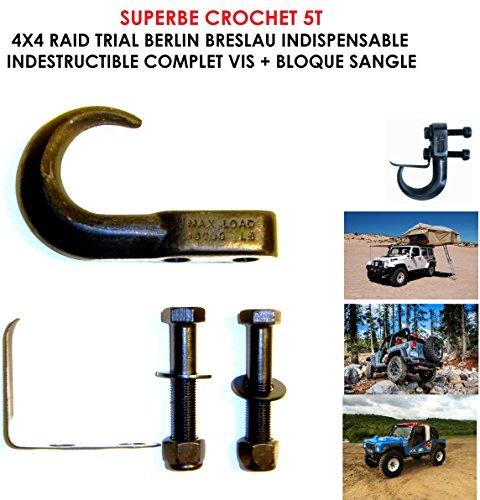 LCM2014 BJ Jeep Hook! Heavy Duty Hook 5 T Black Interlocking 35 mm Raid Preparation 4X4