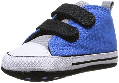Converse Baby Chuck Taylor Crib Scratch Babyschuhe-Lauflernschuhe, Blau - Bleu (Bleu/Noir), 18 EU