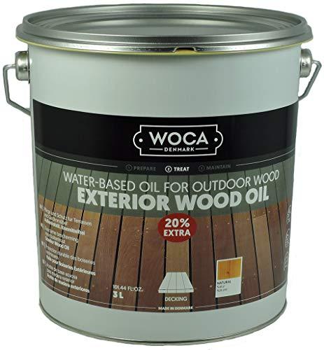 WOCA 617981A Exterior Öl, Natur 3 Liter