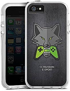 DeinDesign Apple iPhone SE Bumper Hülle transparent Bumper Case Schutzhülle VFL Wolfsburg Esport Merchandise Fanartikel
