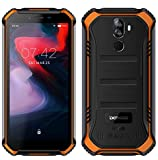 DOOGEE S40 (3GB+32GB) Robustes 4G Android 9,0 Handy ohne Vertrag,5,5' HD (Gorilla Glass 4) IP68 Outdoor wasserdichtes Telephone DUAL SIM Militär Smartphone, 4650mAh Akku, Quadcore 1,5GHz NFC - Orange