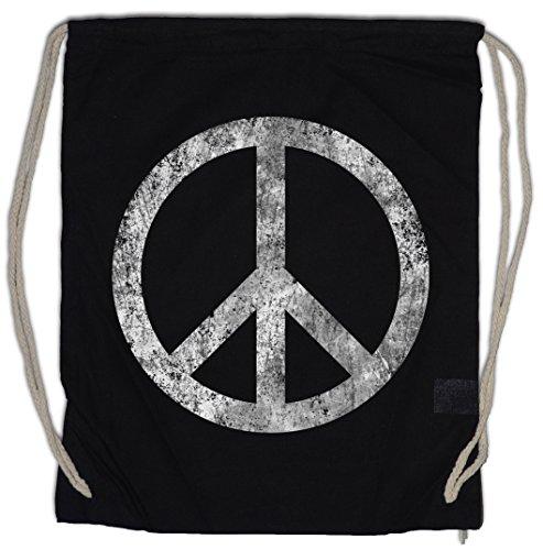 Urban Backwoods Peace Symbol Turnbeutel Sporttasche