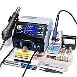 tquuquu Heißluft-lötstation, Mit Lötkolben Telefon Ic PCB Reparatur Lötwerkzeug Entlötstation...