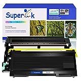 SuperInk 2 Pack Compatible Toner Cartridge & Drum Unit Set Compatible for Brother TN350 DR350 use in DCP-7010 HL-2030 HL-2070N Intellifax 2820 MFC-7220 Printer (1 Toner, 1 Drum)