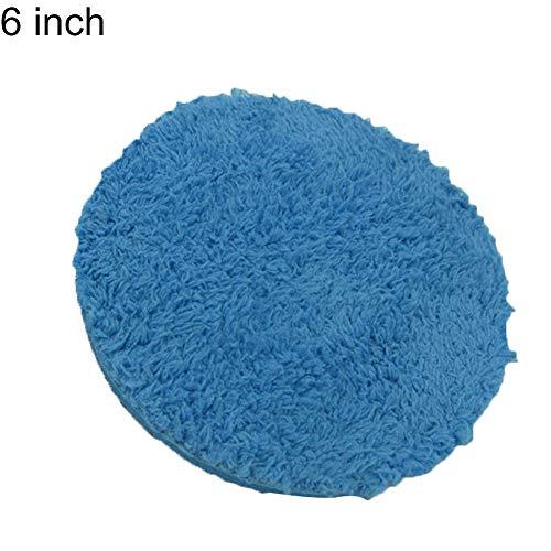 YSHtanj Auto Reiniging Tool Auto Reiniging en Onderhoud Houder 5/6inch Auto Schoonheid Pneumatische Wax Lade Polijsten Blok Reiniging Handdoek Tool - Blauw 5 inch
