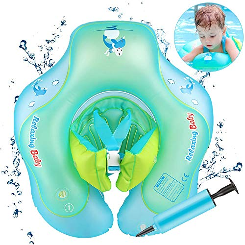 Infreecs Baby schwimmring mit schwimmsitz, Baby Schwimmen Ring Baby Schwimmhilfe Kinder Aufblasbare Schwimmer Baby Schwimmtrainer f¨¹r Kinder von 6 bis 36 Monaten, L