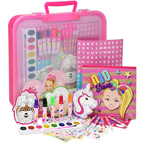 Jojo Siwa Coloring and Activity Art Tub, Includes Markers, Stickers, Mess Free Crafts Color Kit in Art Tub, for Toddlers, Boys and Kids