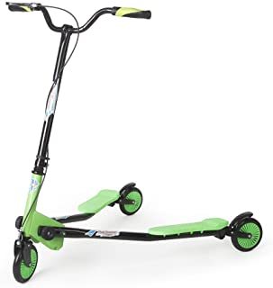 AODI Swing Scooter 3 Wheels Adjustable Foldable Drifting Wiggle Scooter with 3-Wheeled Self Propelling for Boys/Girl/Adult Age 6 Years Old and Up