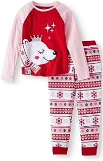 Wonder Nation Girls Polar Queen Fleece Pajamas