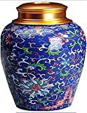 Pote de té de cerámica japonés, tetera tradicional, cocina de azúcar cerámica sellada de cocina.