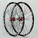 Juego de ruedas de MTB 26 / 27,5 / 29 pulgadas de aleación de aluminio del freno de disco del borde 32H rápida liberación de caja de rueda libre Novatec Rojo + Rojo Lable (rueda de la rueda delantera