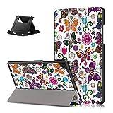 Shinyzone Tablet Hülle Kompatibel mit Samsung Galaxy Tab A7 2020 10.4 T500/T505/T507,Ständer Smart Cover mit Auto Aufwachen/Schlaf,Ultra Dünne Leder Schutzhülle mit Kantenschutz,Schmetterling