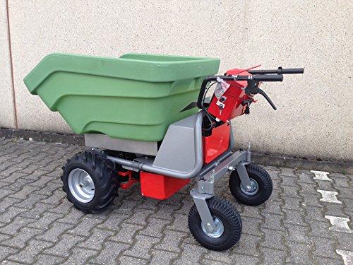 Het origineel – made in Germany – Powerpack MCE400 met 350 liter. Massieve kunststof kuip - accukruiwagen elektrische kruiwagen kruiwagen dumper motorkruis 2019