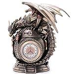 "7.25"" Steampunk Dragon on the Time Machine Trinket Box Jewelry Box Gothic 5"
