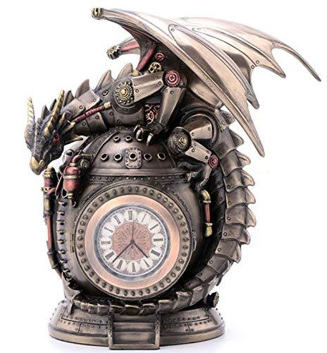 "7.25"" Steampunk Dragon on the Time Machine Trinket Box Jewelry Box Gothic 3"