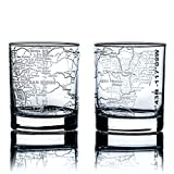 Greenline Goods Whiskey Glasses - 10 oz Tumbler Set for San Diego lovers, Etched with San Diego Map | Old Fashioned Rocks Glass - Set of 2