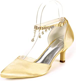 Amazon.es: zapatos dorados fiesta Zapatos de tacón