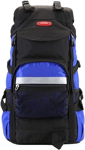 XYW-0006 Sac à Dos de Voyage en Plein air Sac à Dos Oxford Sac à Dos imperméable Hommes et Femmes imperméable Ripstop Bleu foncé - avec Habillage Pluie