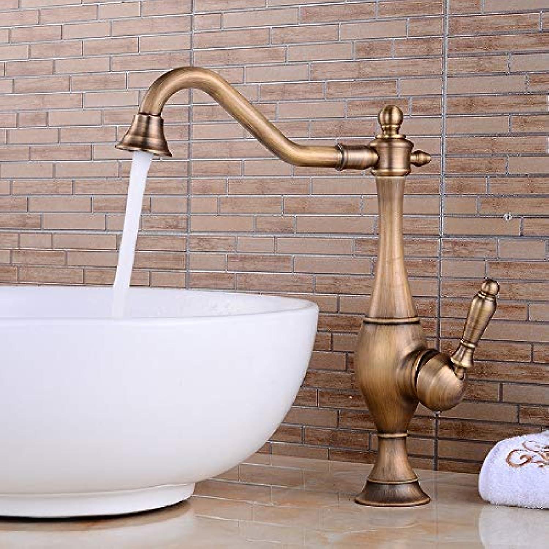 AXWT Bronze High Grade Ancient Europe Alle Bronze Antike Wasserhhne Küche Bad Wasserhahn Persnlichkeit Schne Drehen Wasserhahn