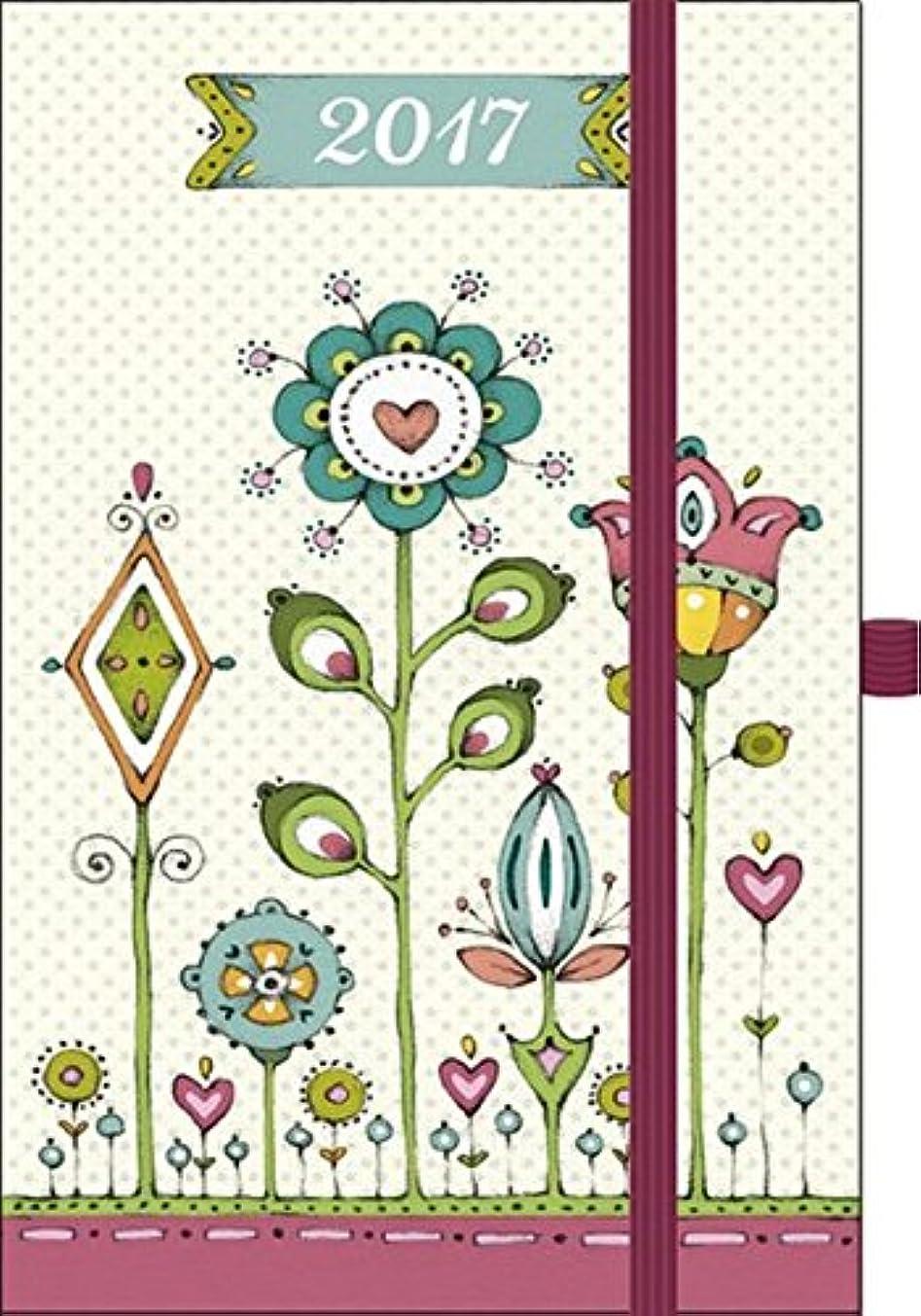 びっくり交流する静けさPremium Timer Small Magic Art -  Blumenwiese 2017: Buchkalender mit hochwertiger Folienveredelung und Praegung