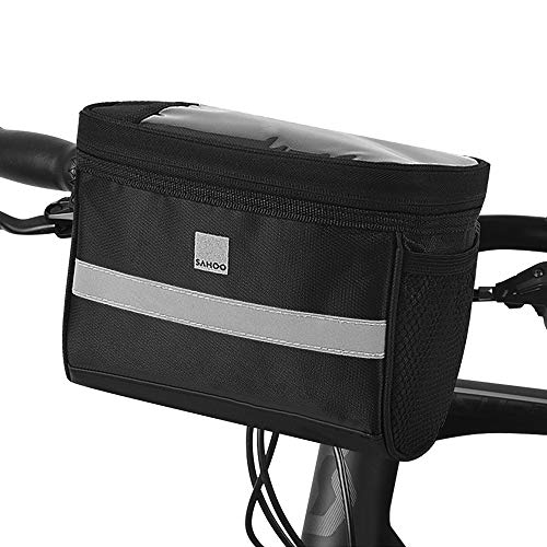 SZRWD Fahrrad Lenkertasche Wasserdicht, Fahrradtasche Handy Rahmentasche Gepäckträger Tasche mit transparentem PVC Sichtfenster für MTB/Fahrrad Karte Telefon Tablet oder Handy