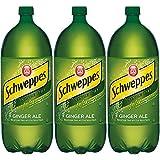 Schweppes Ginger Ale Soda, 2 Liter Bottle (Pack of 3, Total of 202.80 Oz)