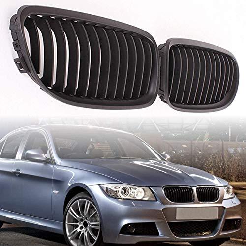 HYNB 1 paar auto grille race grills voor BMW E90 LCI 3 Serie Sedan/Wagon 09-11, mat zwart, mat zwart