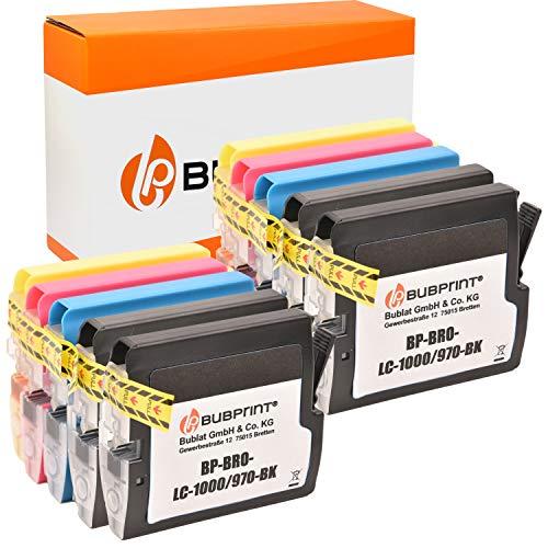 10 Bubprint Druckerpatronen kompatibel für Brother LC-1000 LC-970 für DCP-130C DCP-135C DCP-150C DCP-350C DCP-357C MFC-235C MFC-240C MFC-260C MFC-465CN MFC-5460CN Fax 1355 Multipack