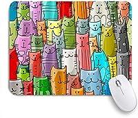ZOMOY マウスパッド 個性的 おしゃれ 柔軟 かわいい ゴム製裏面 ゲーミングマウスパッド PC ノートパソコン オフィス用 デスクマット 滑り止め 耐久性が良い おもしろいパターン (漫画猫の恋人変な動物子猫子供)