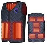 Heated Vest, APP Intelligent Temperature Adjustment Eight Heaters Heated Jacket(Battery Not Included) Black