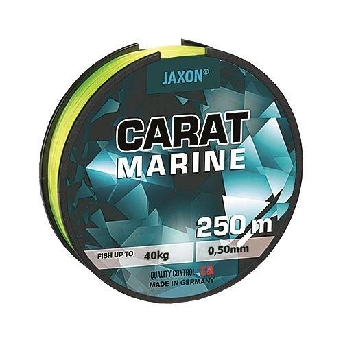 Angelschnur Meeresschnur JAXON CARAT MARINE Gelb-fluo 250m Spule Monofile NEU (0,03€/m) (0,50mm / 40kg)