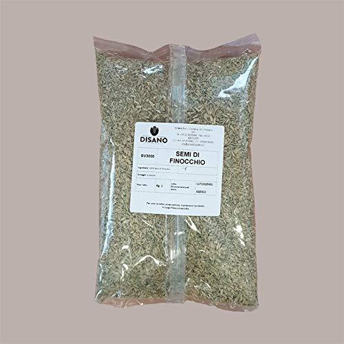 Lucgel Srl (1 Kg) 100% Semi Di Finocchio x Tisana e Ingredienti in Cucina Spezie