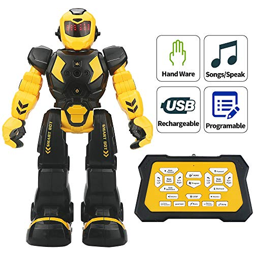 Sikaye Remote Control Robot for Kids Intelligent Programmable Robot with Infrared Controller...