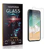 Bear Village® Displayschutzfolie für iPhone X/iPhone XS, Kratzfest Schutzfolie aus Gehärtetem Glas für iPhone X/iPhone XS, Einfache Installation, 99% Transparenz, 1 Stück -
