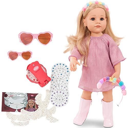 Götz 2159096 Hannah be My Mini Me - 50 cm große Stehpuppe, Blonde Haare und Blaue Augen - 26-teiliges Set