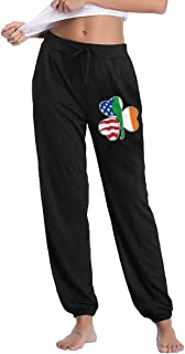 Italian Irish American Clover Women`s Casual Sweatpants Leisure Pants