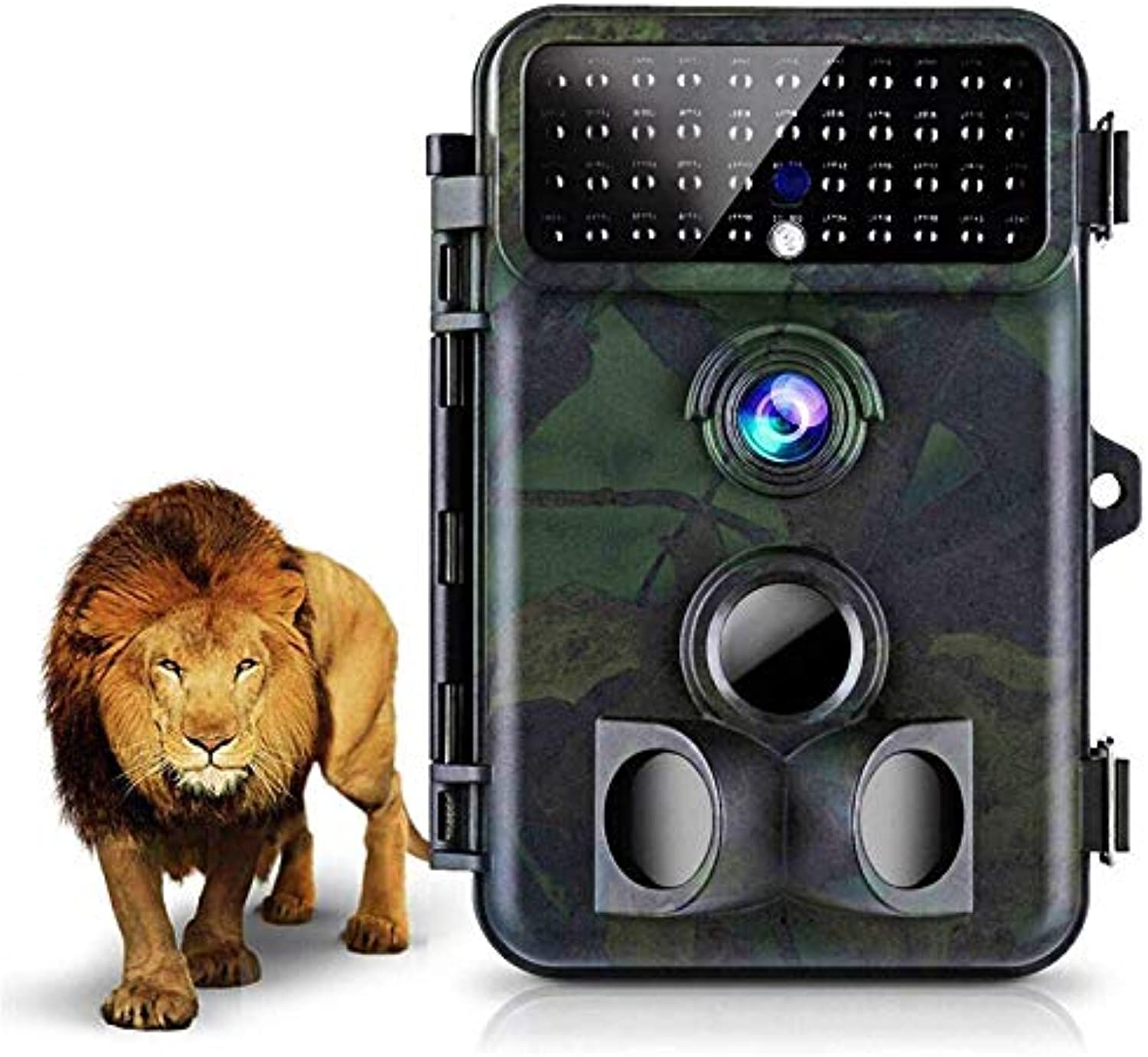 Tvird Trail Camera 16MP 1080P Wildlife Camera Super Night Vision Hunting Camera 125° Detecting Range and 66 FT Motion Activated with 2.4'' LCD Display IP66 Waterproof Predected Design