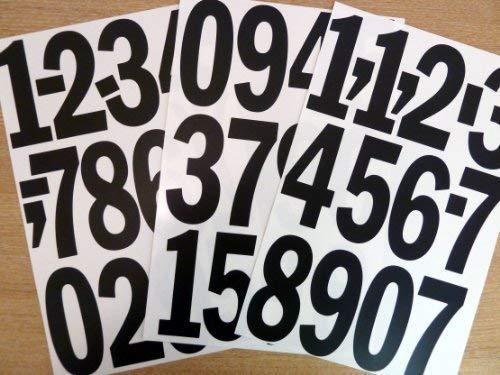 Pack de 35 x 4 pulgadas (100 mm) números adhesivos de vinilo...