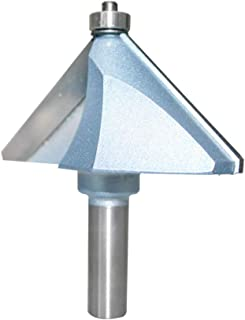 SHINA Chamfer Router Bits 45 Degree 1/2-Inch Shank 2-Inch Cutting Length About 1-Inch Cutting Height 2 Flutes