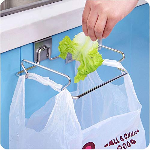 "iDesign Classico Metal Over the Cabinet Plastic Bag Holder for Kitchen, Pantry, Bathroom, Dorm Room, Office, 5.5"" x 6.5"" x 2"", Chrome"