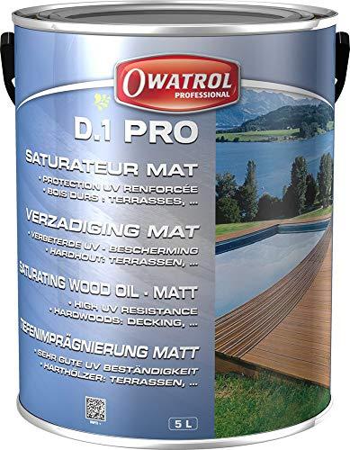 D. 1 PRO - Saturator Amber für exotisches Holz - Öl Pro - 5 Litres, Farblos