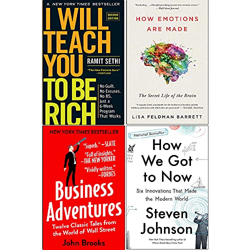 I Will Teach You To Be Rich, How Emotions are Made, Business Adventures, How We Got to Now 4 Books Collection Set