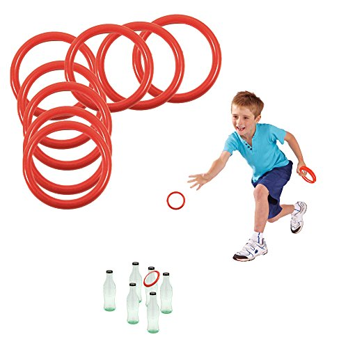 Toy Cubbys Ring Toss Ring-a-bottle Game Set, 2.5 Inches, 24 Pcs