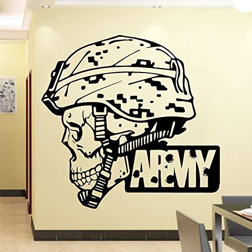 mlpnko Militärische Wandaufkleber Wandkunstaufkleber Mode Moderne Hauptdekoration Wohnzimmer Schlafzimmer,CJX10535-88x85cm