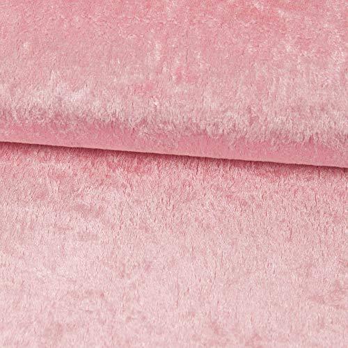 Pannesamt Stoff Uni rosa Meterware - Preis Gilt für 0,5 Meter