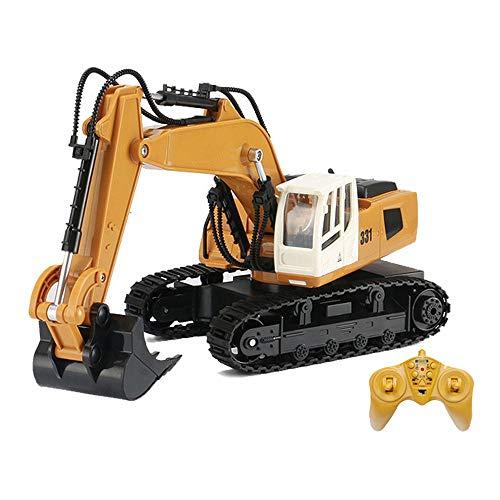 Moerc Control Remoto Excavadora Juguete 1/16 RC Camión RC Excavadora 9Channel Baterías hidráulicas RC Excavador 2.4GHz Vehículos de construcción completos para 4, 5, 6, 7, 8 años de Edad.