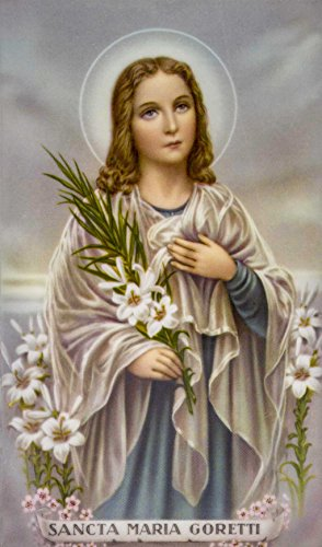Good Shepherd Creations Laminated Holy Card with Traditional Art (Saint Maria Goretti)