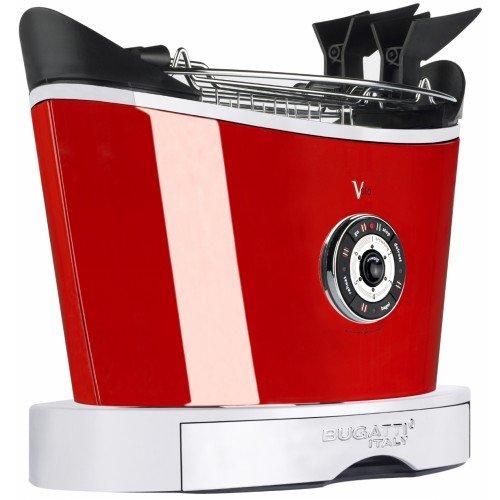 Casa Bugatti Toster 13-VOLOC3, roestvrij staal, rood