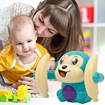 Curtis Toys Baby Voice Control Rolling Little Monkey Toy Walk Sing Brain Game Crawling Electric Toys (Colours as Per Stock)