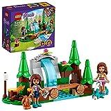 LEGO 41677 Friends La Cascade dans la forêt – Jeu de Construction avec Mini Poupées Andréa et Olivia + Écureuil Jouet Enfant 5 Ans